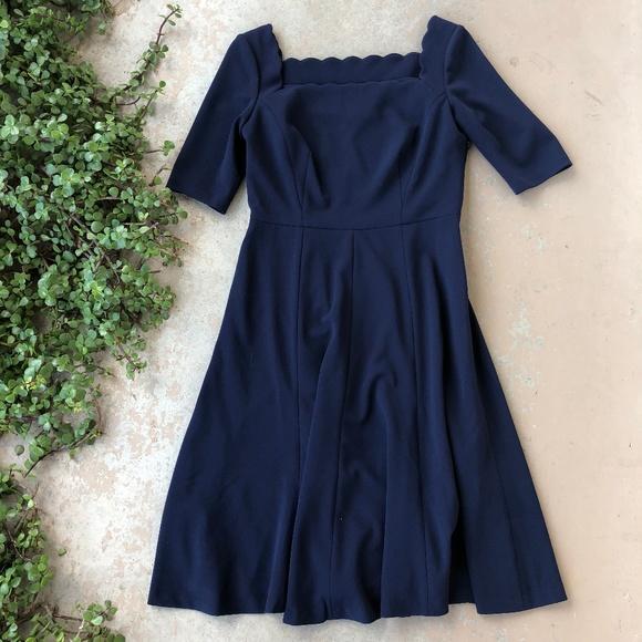 9d1efcc808d Gal Meets Glam Dresses   Skirts - Gal Meets Glam Navy Scalloped A-Line Dress